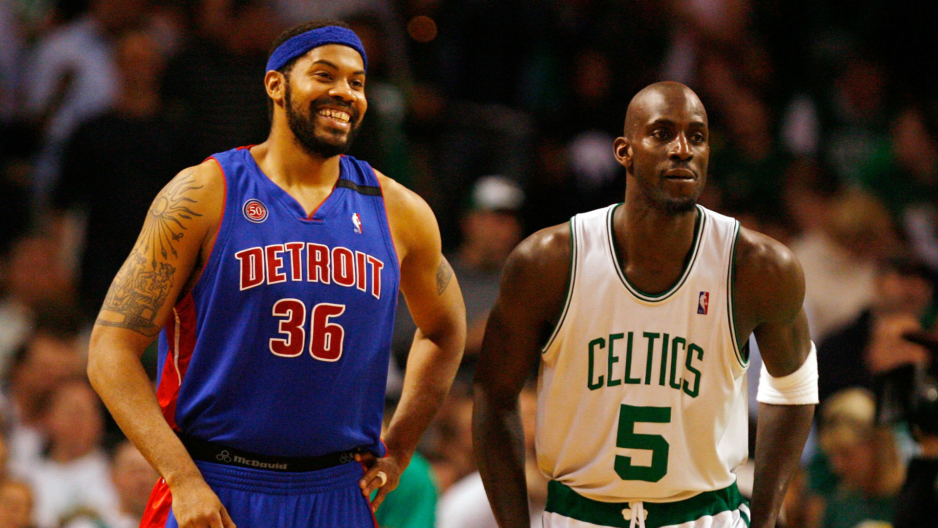 Kevin Garnett Rasheed Wallace cursed a lot between takes on TNT s