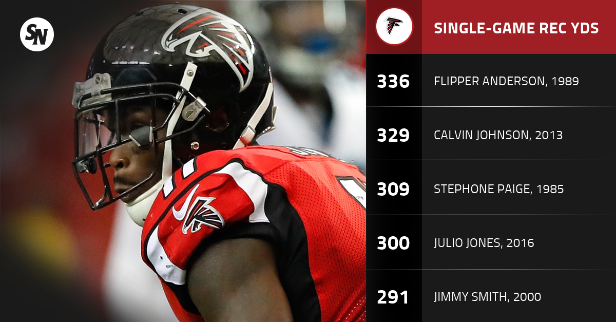 Julio Jones has monster game as high-flying Falcons rip Panthers