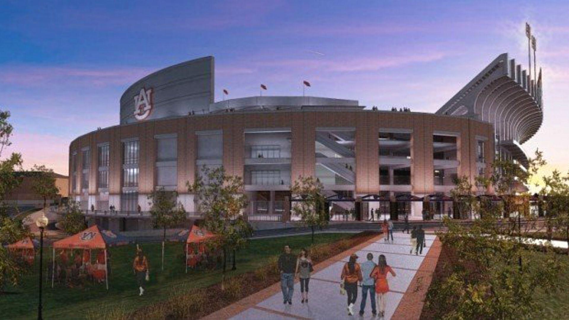 Auburn revamps plans for upgrading jordan hare stadium for Renovation drawings
