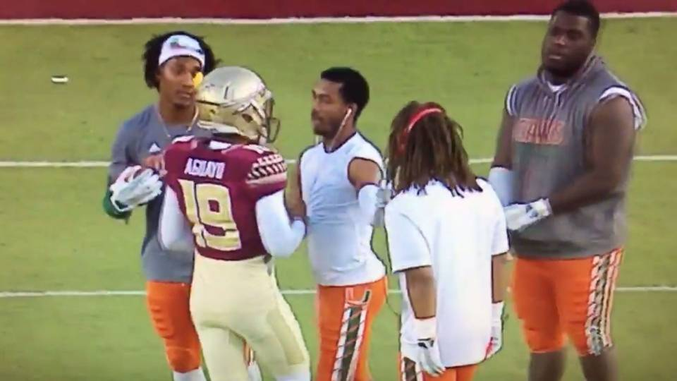 four miami players trying to punk fsu s kicker shows how far the