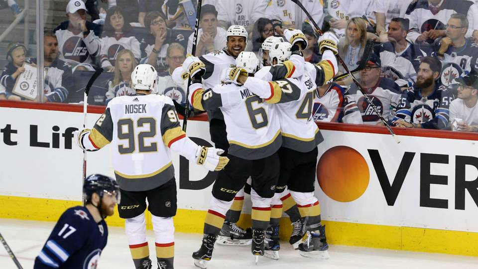 NHL playoffs 2018: Golden Knights eliminate Jets, advance ...