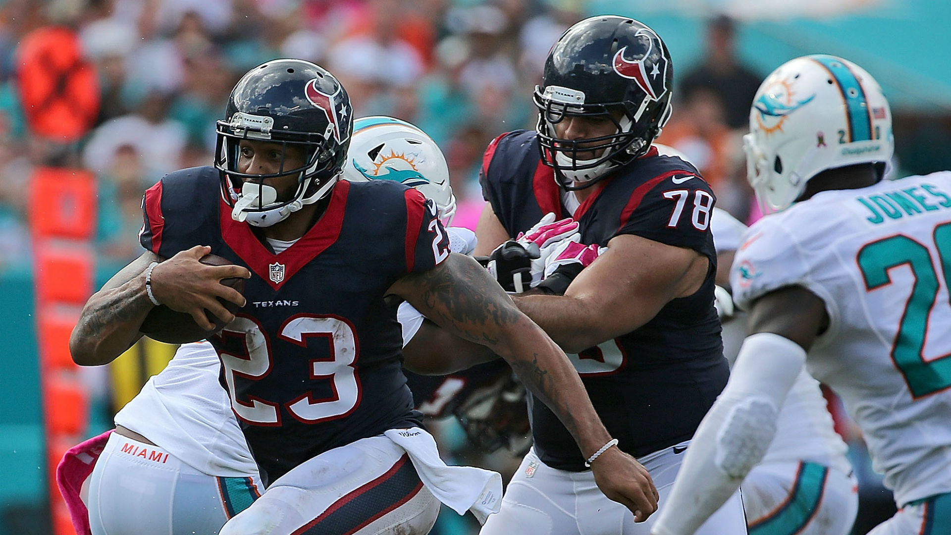 Houston Texans Rumors: Ray Rice, Montee Ball Not Replacing Arian Foster class=