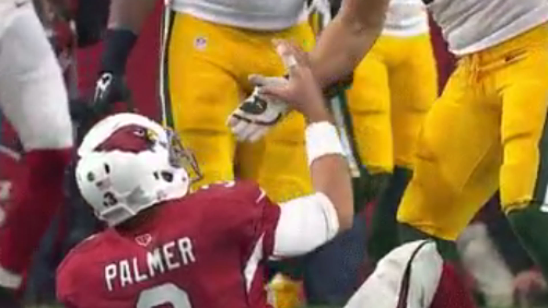 Clay Matthews was a real jerk to Carson Palmer after knocking him