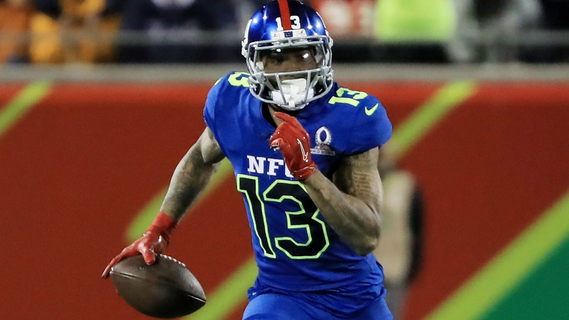 Giants' Odell Beckham Jr. surprised with high school jersey at Pro Bowl