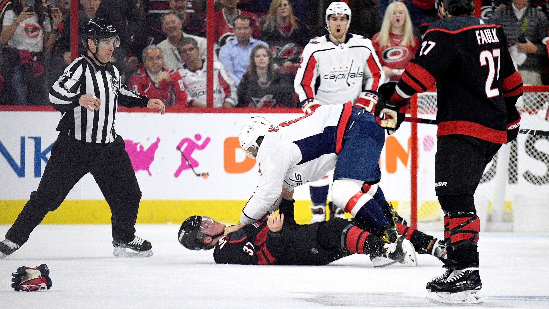Nhl Playoffs 2019 Alex Ovechkin Canes React To Andrei Svechnikov Fight I Hope Hes Okay