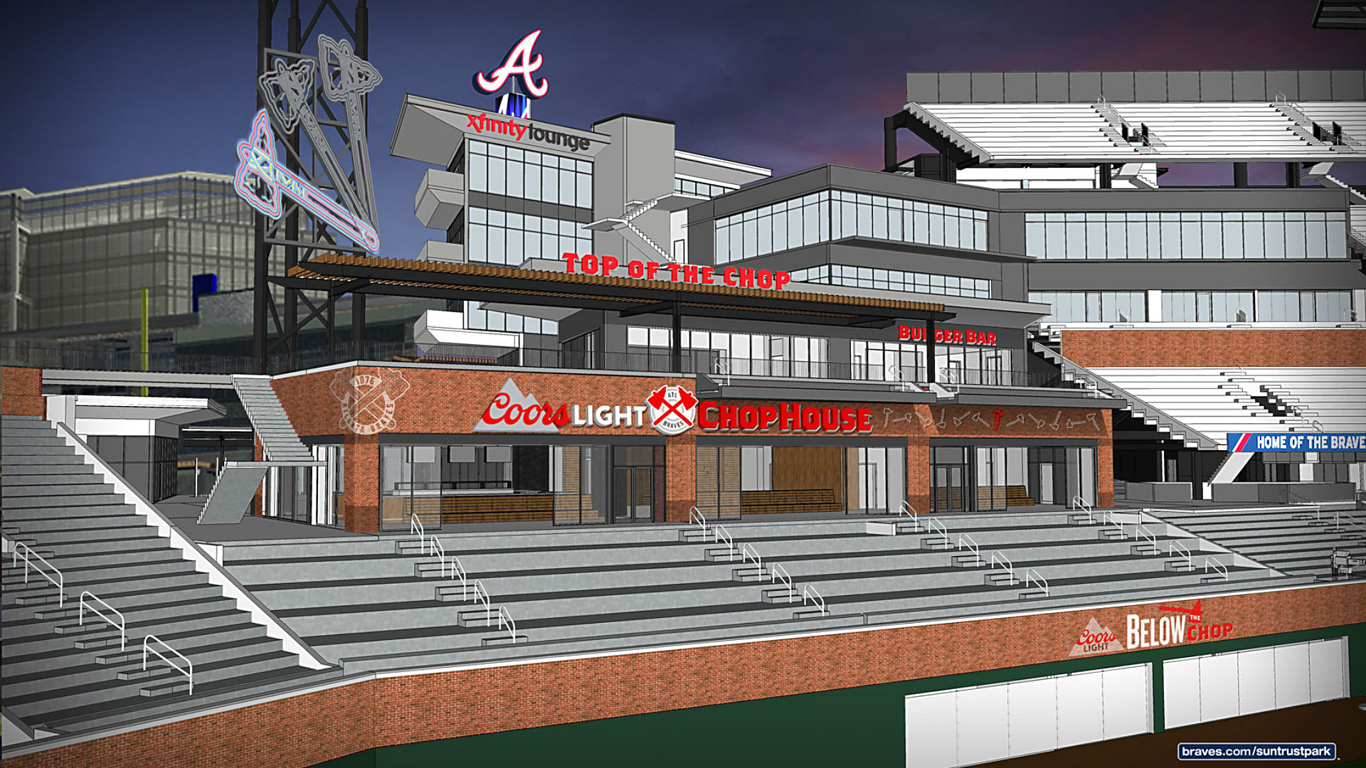 Coors Light Chop House ing to Braves new ballpark