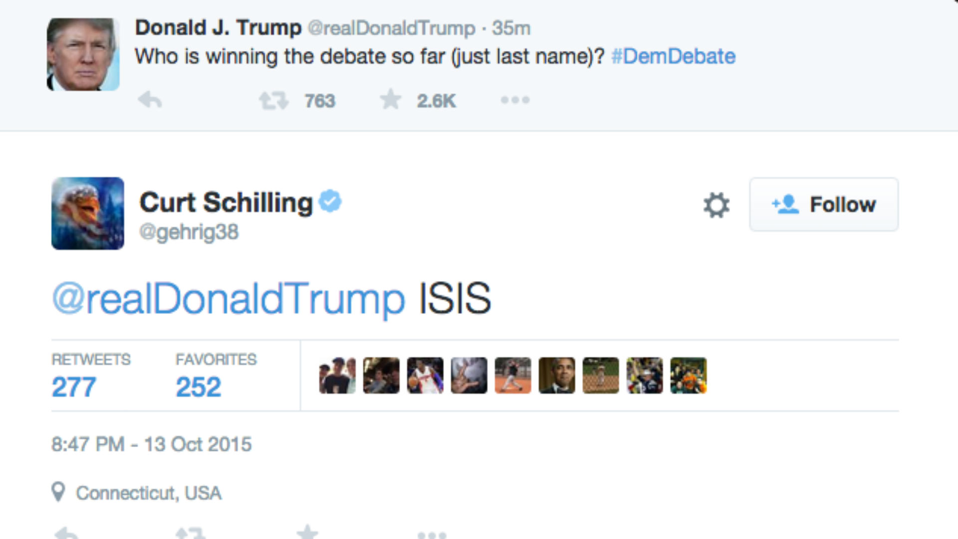 Curt Schilling Donald Trump Democratic Debate FTR.jpg