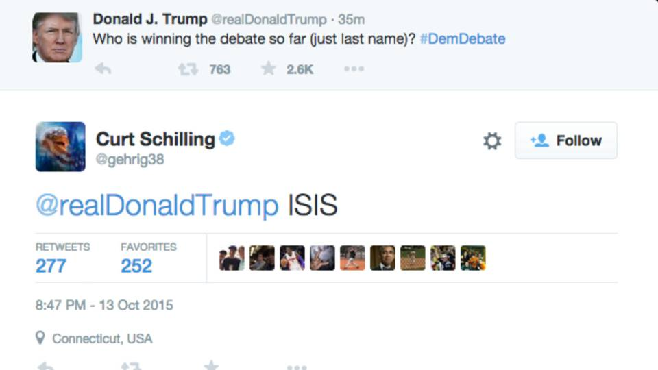 Curt Schilling Donald Trump Democratic Debate FTR.jpg