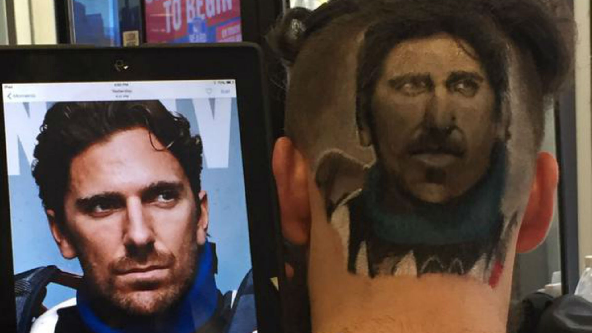 Rangers fan gets Henrik Lundqvist's face shaved into the back of his head