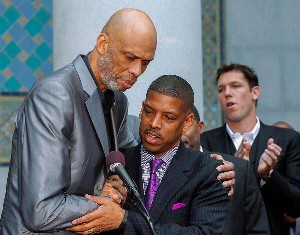 Kareem Abdul-Jabbar and Kevin Johnson