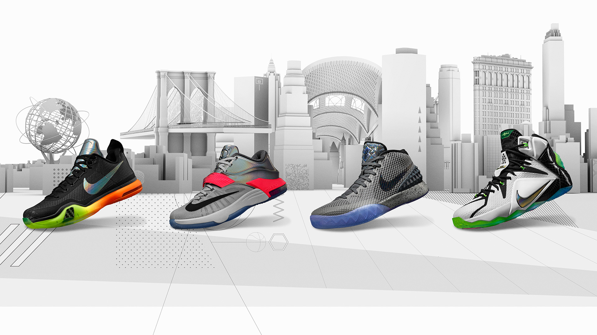 Nike's KOBE X, KD 7, KYRIE 1 and LEBRON 12 New York City collection
