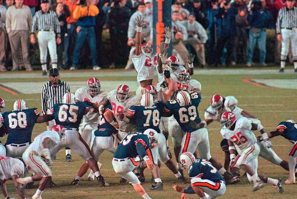 10. 1997: Auburn 18, Alabama 17