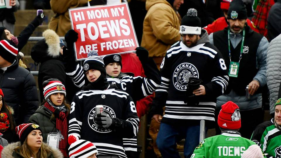 216769d6b2f Blackhawks fans prove commitment through another cold hard Winter Classic  defeat