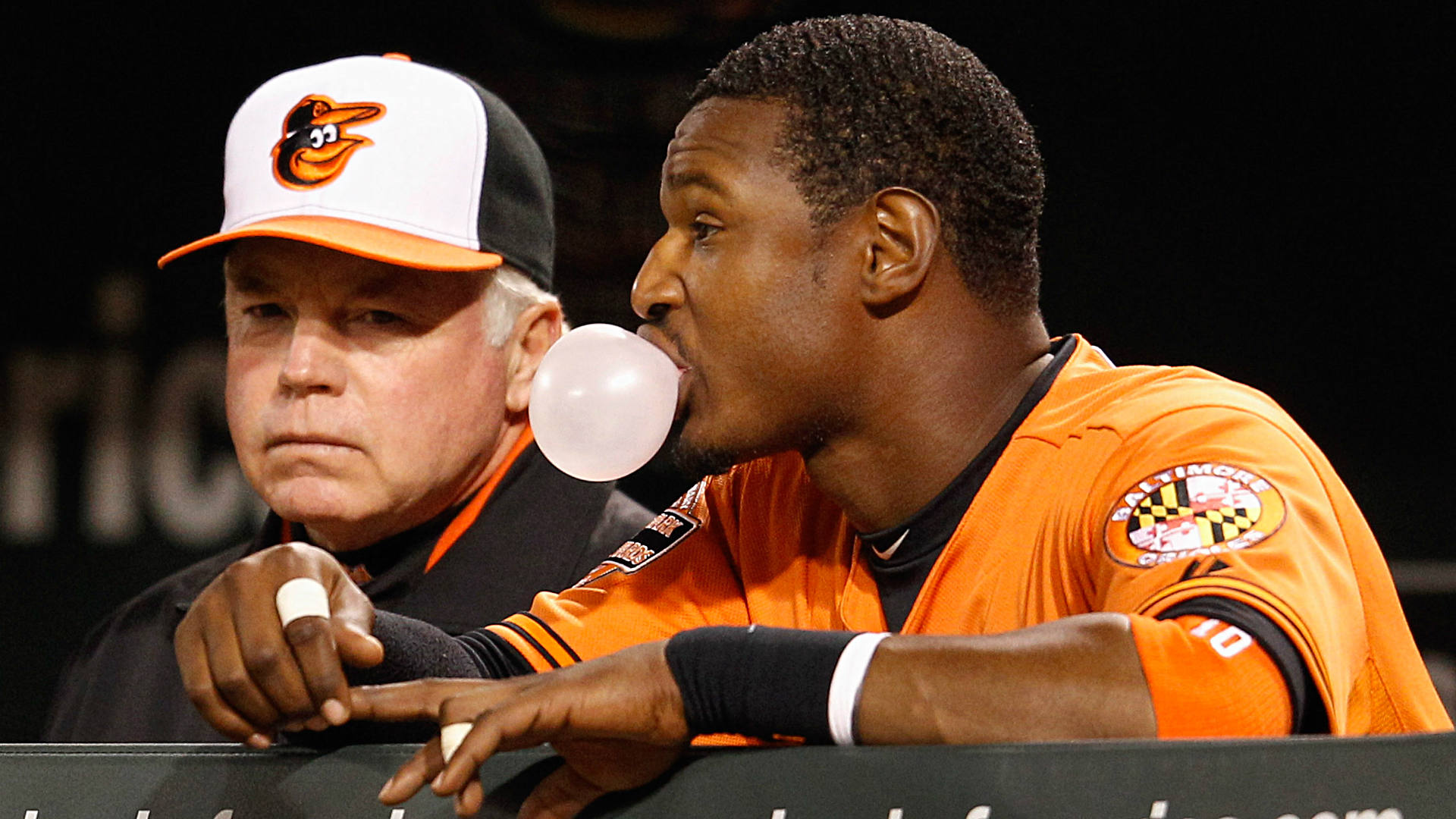 Os Adam Jones Buck Showalter Feel Baltimores Pain As Game Goes On Without Fans