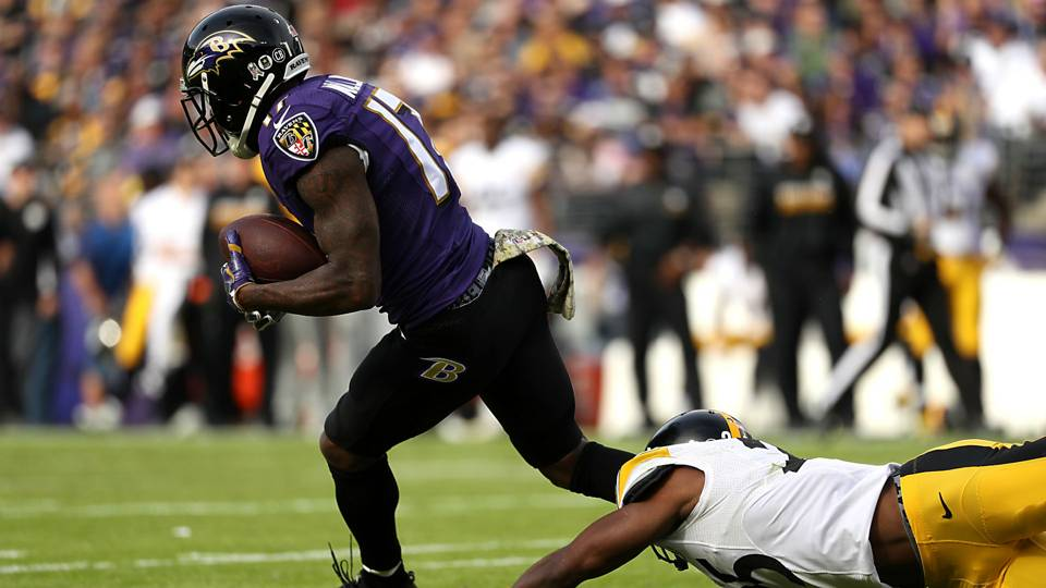 ravens mike wallace blows up steelers for 95yard td