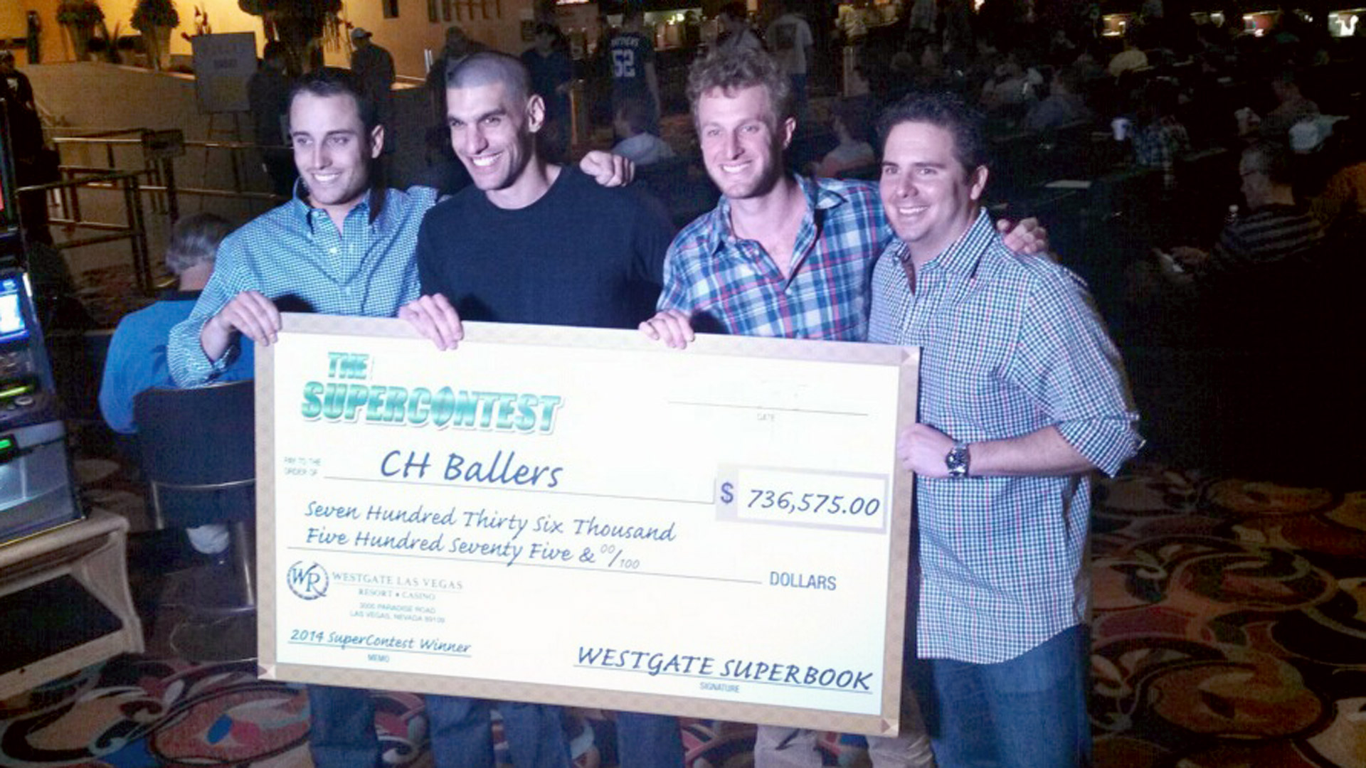 SuperContest winners handed checks after season of picking winners