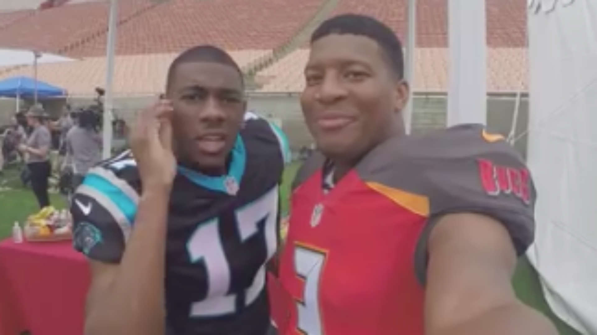 Jameis Winston clowns around Rookie Premiere with GoPro