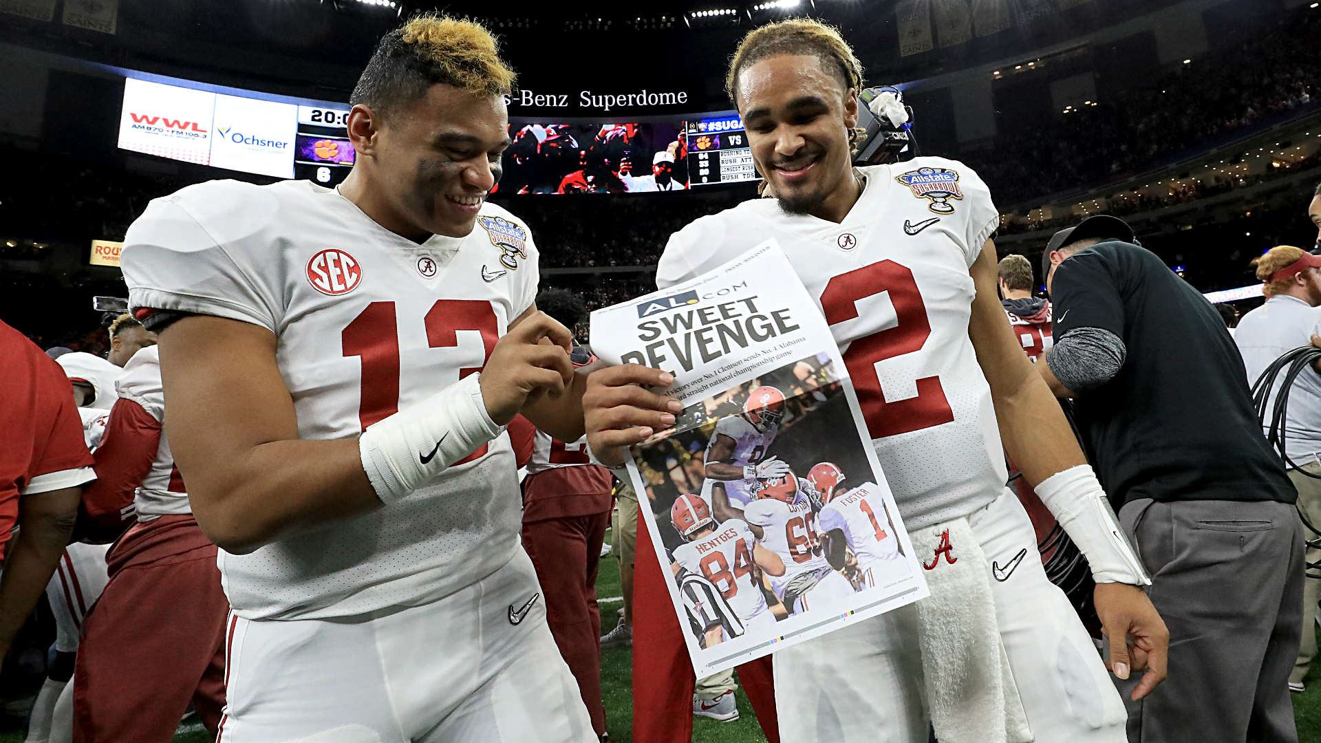 Starting QB Tua Tagovailoa leads No. 1 Alabama to rout of Louisville