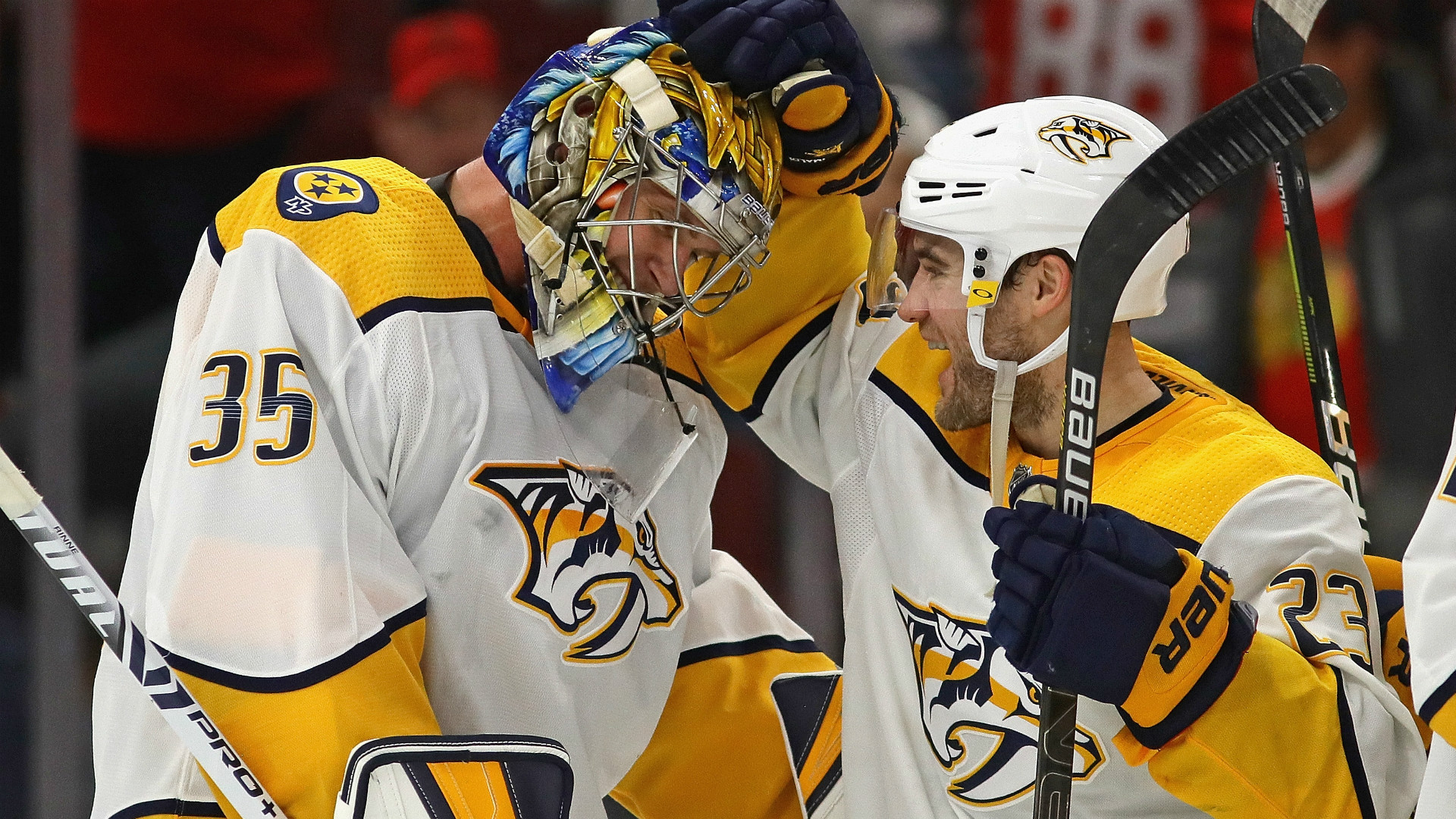 NHL: Pekka Rinne trouve le chemin du but