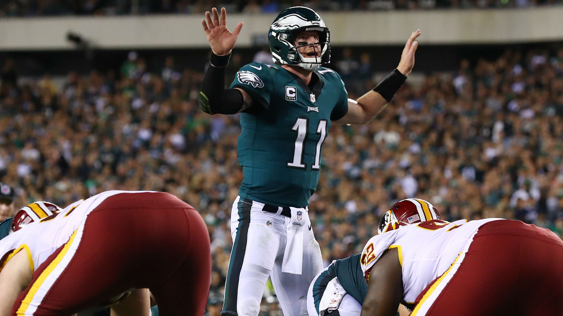 Another injured Redskins QB: Colt McCoy hurts leg, Mark Sanchez goes in