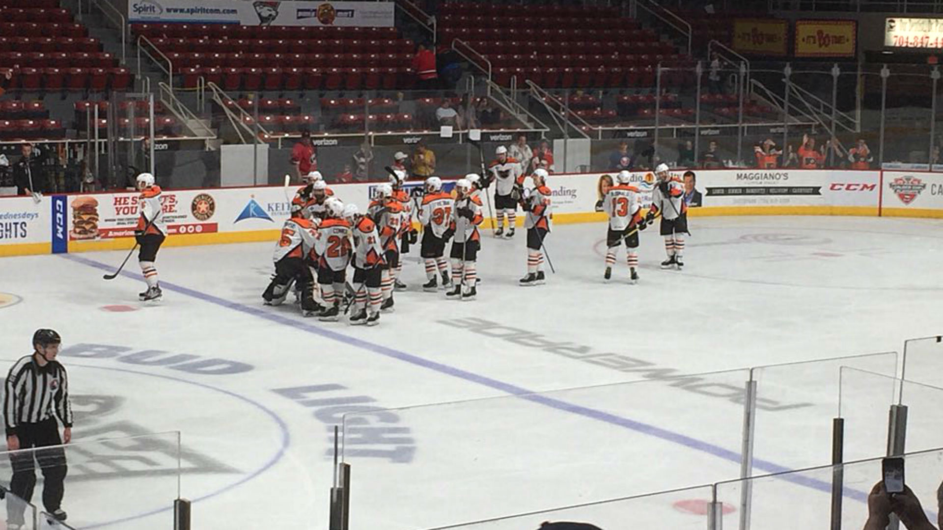 The Lehigh Valley Phantoms have won the longest game in AHL history