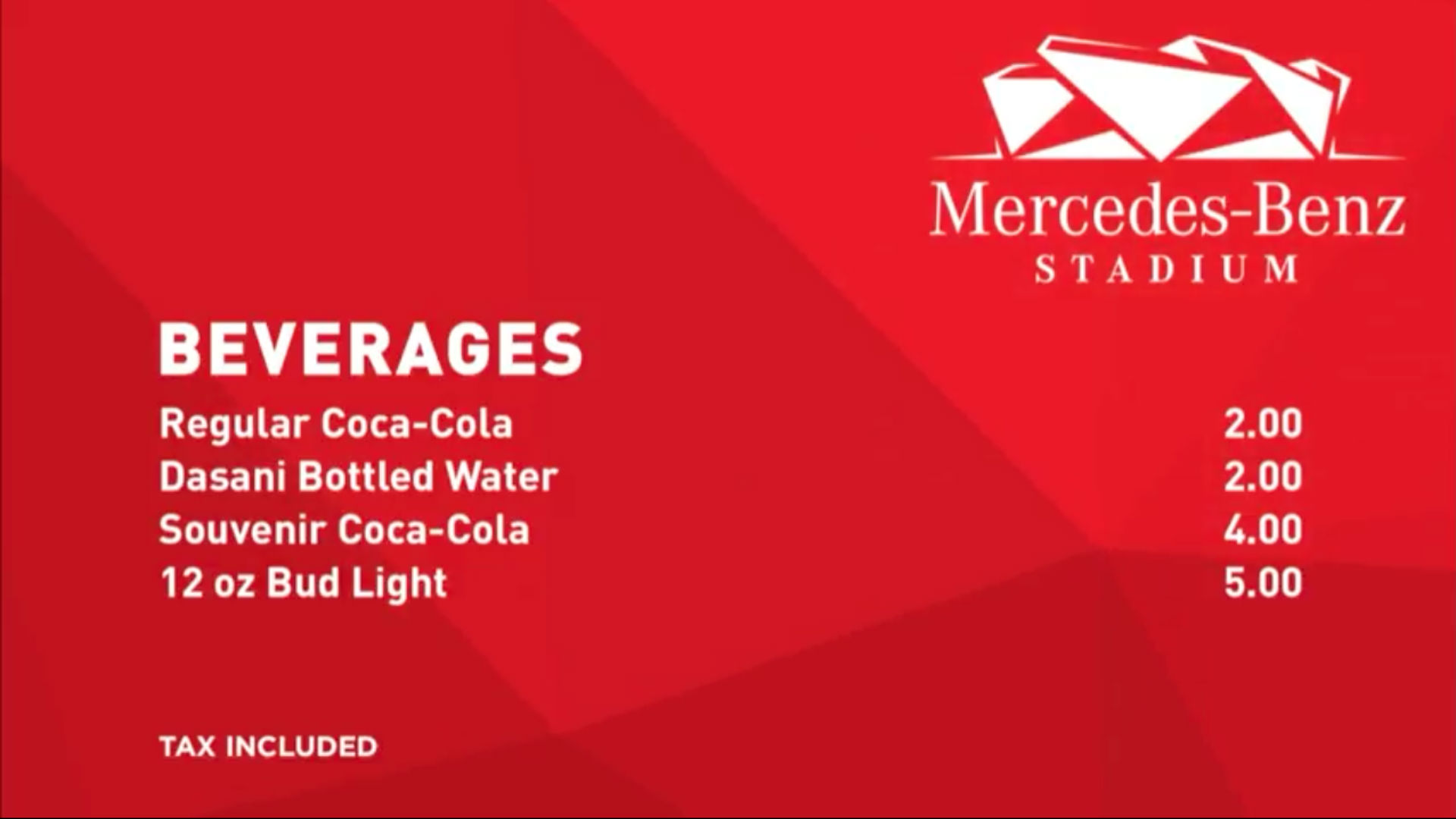 Falcons hey maybe fans should be able to afford food at for Mercedes benz average price