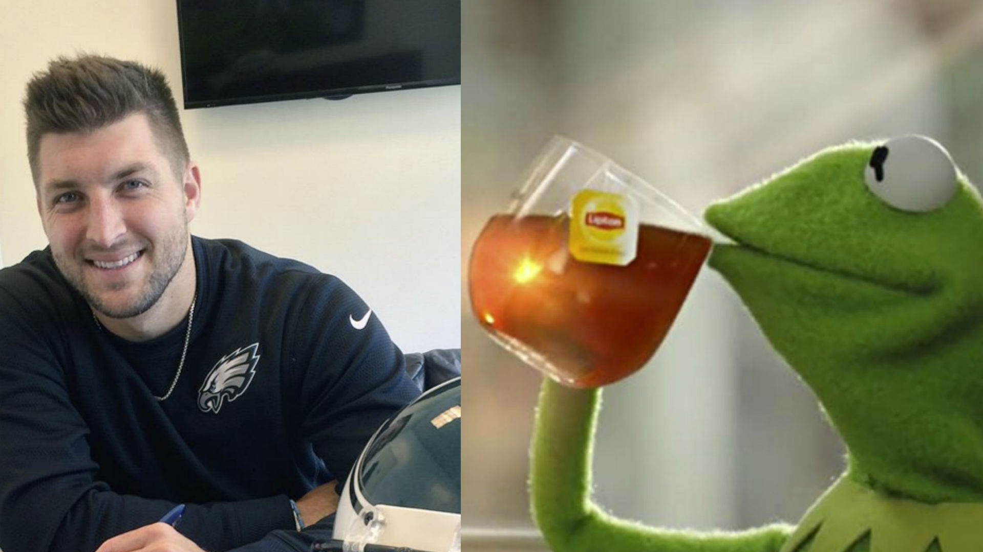 Redskins troll Tim Tebow with Kermit photo