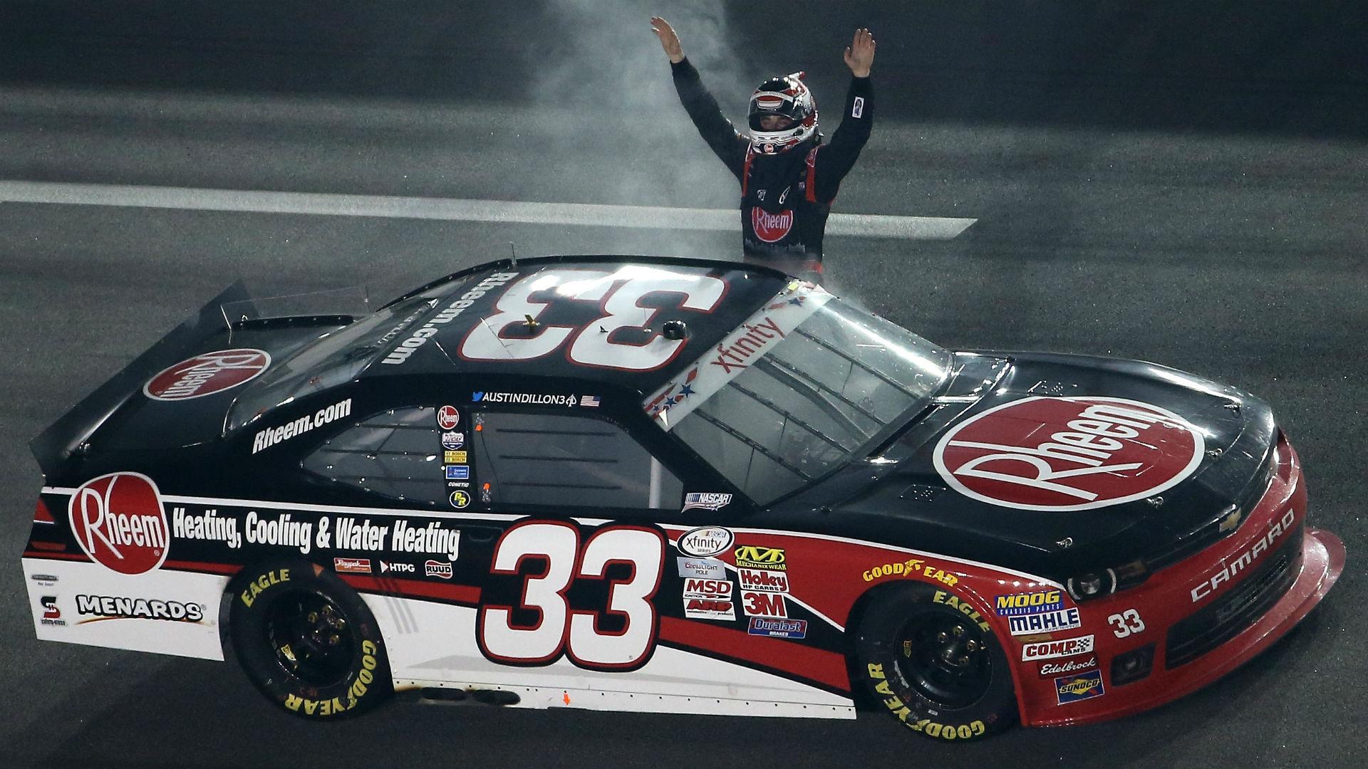 Austin Dillon outlasts Chase Elliott to win Subway Firecracker 250