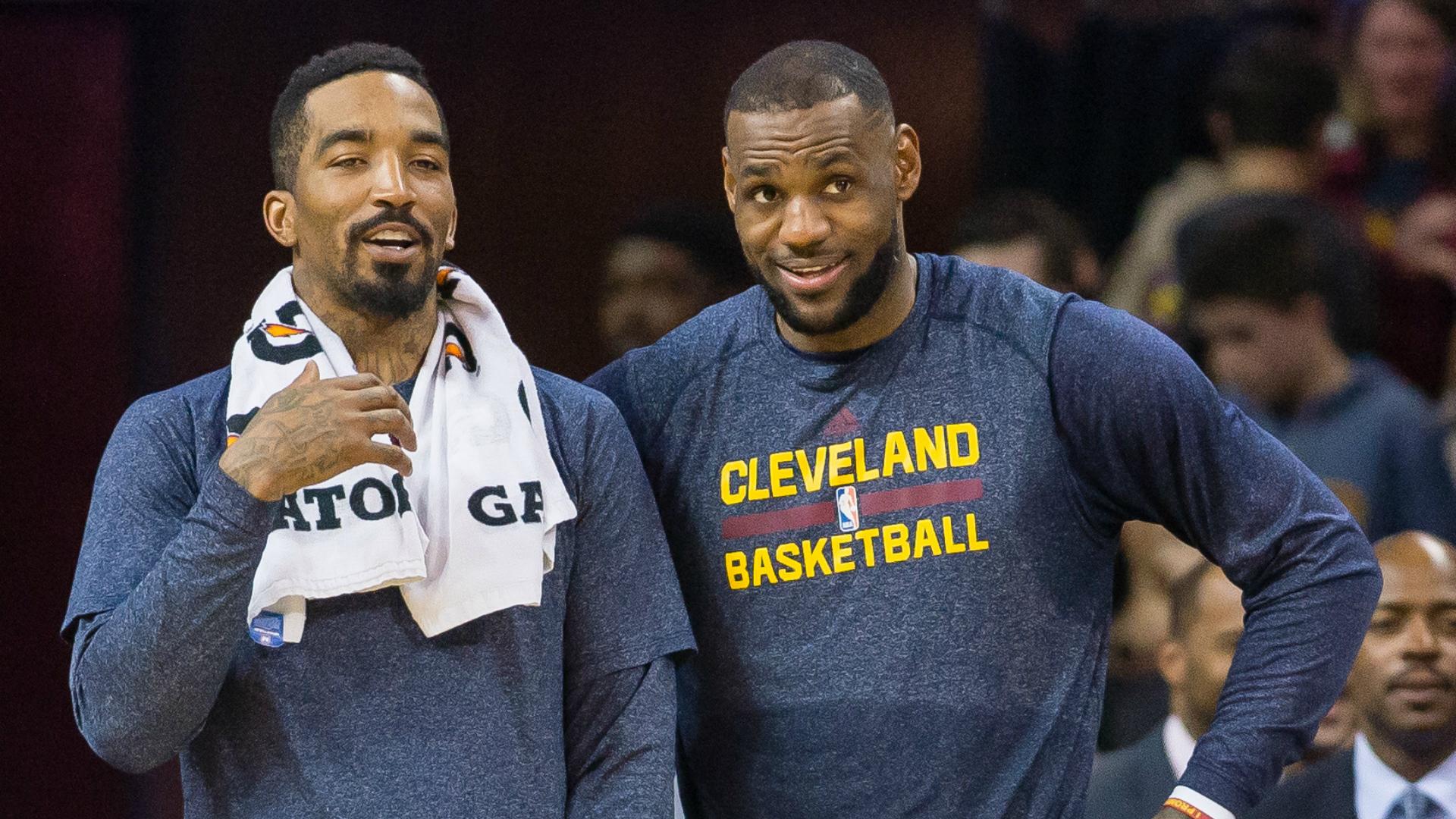 J.R. Smith and LeBron James.