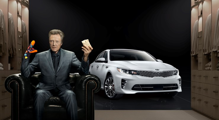 Movie star Christopher Walken stars in Kia's 'Walken Closet' Superbowl advert