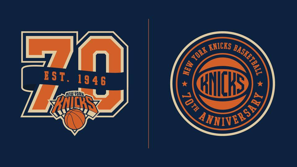 Knicks 70th logos