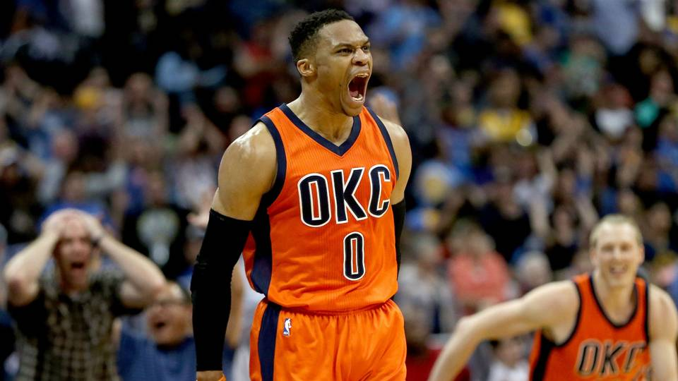 NBA playoffs 2017: Russell Westbrook clowns Rockets with MVP handle after block | NBA | Sporting ...