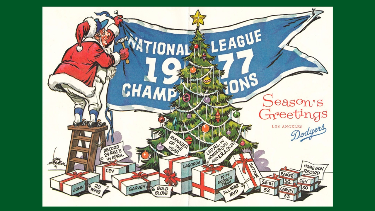 Vintage holiday greetings from your favorite teams sporting news kristyandbryce Choice Image