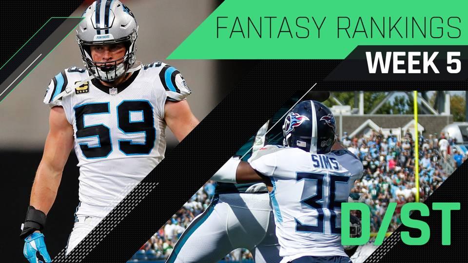 Week 5 Fantasy Football Rankings  Defense · NFL 30b0614bd