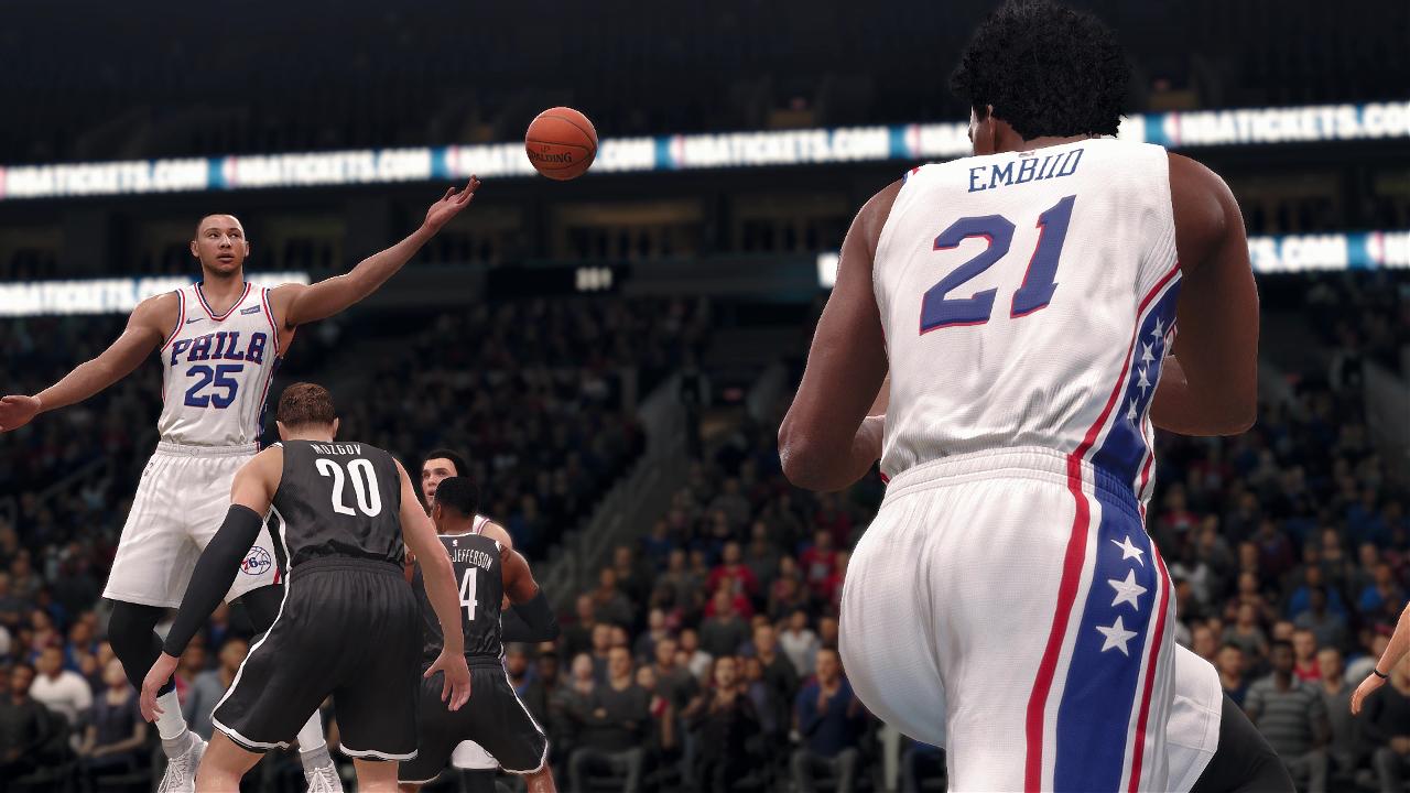 NBA Live 18 Joel Embiid Ben Simmons