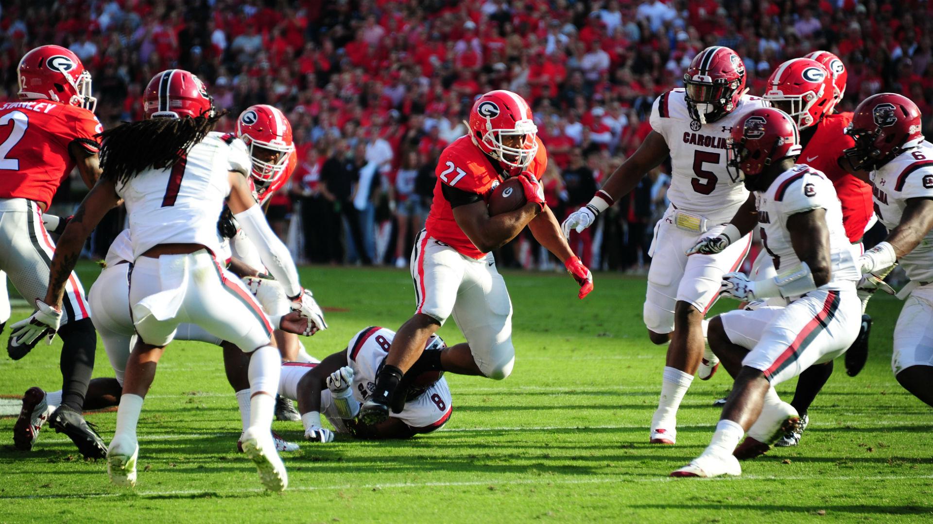 South Carolina Vs Georgia Score Highlights Bulldogs Blow Out Gamecocks In Sec Opener