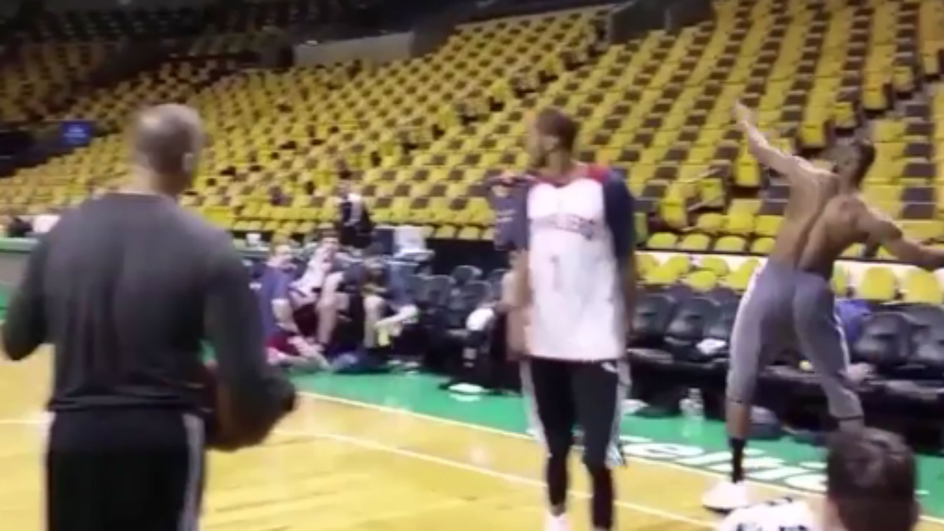LeBron James hits insane full-court shot