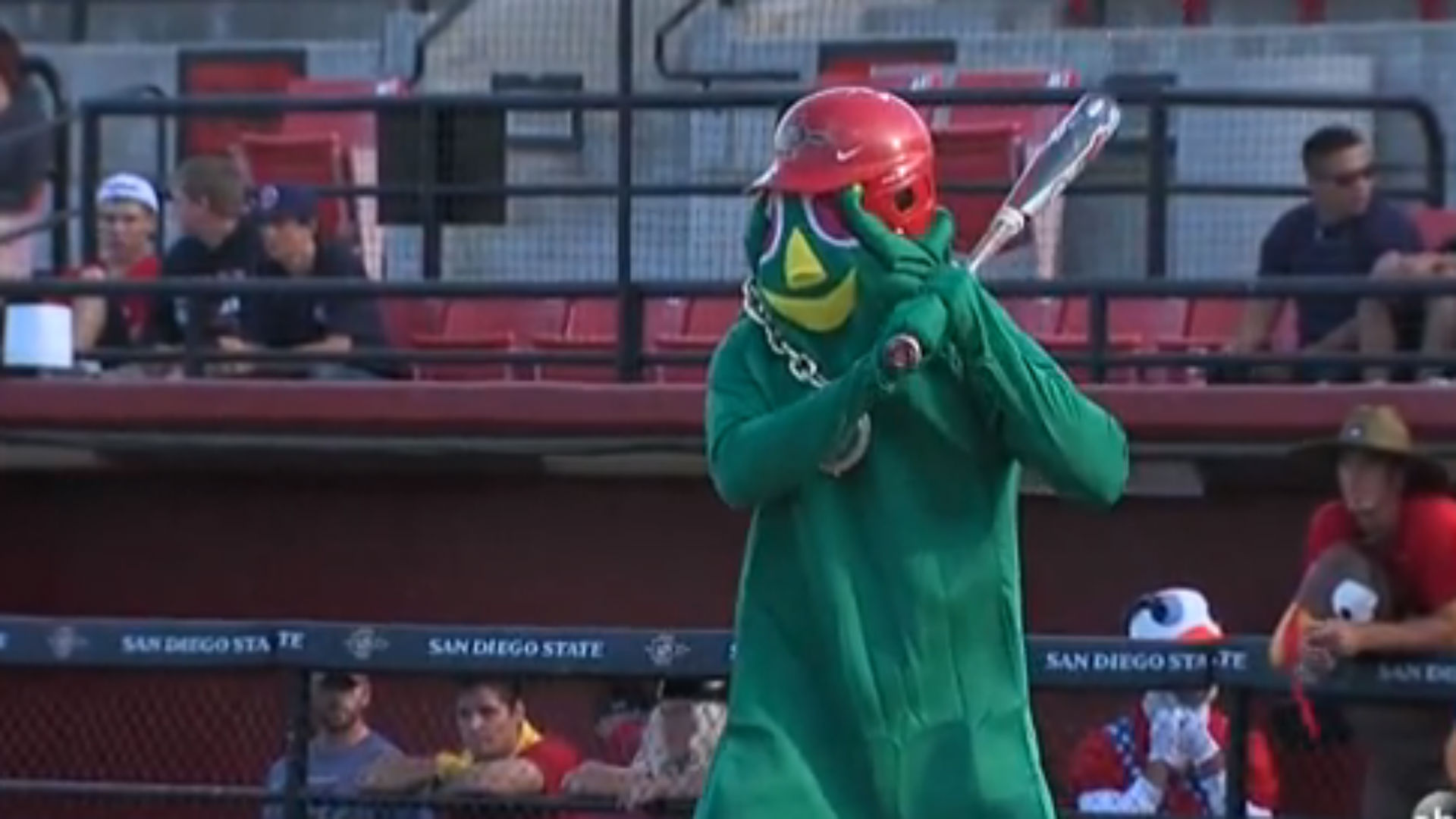 san diego state baseball team plays game in halloween costumes | mlb