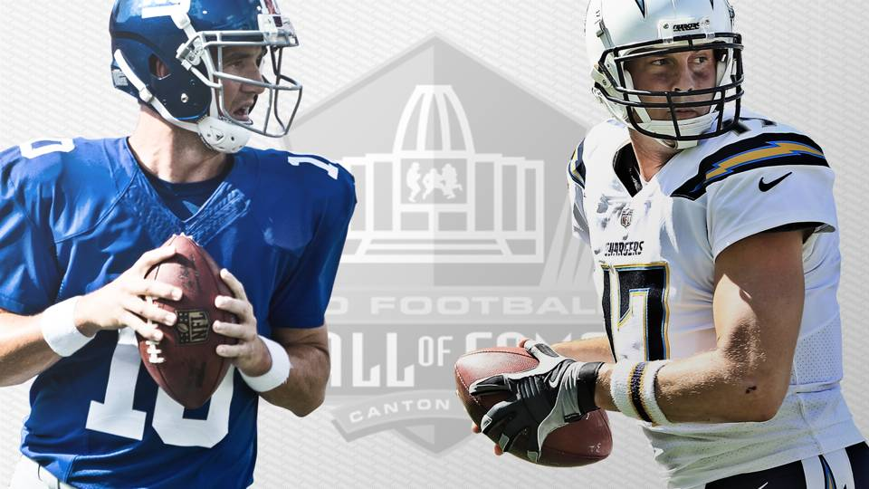 Eli Manning vs. Philip Rivers for Hall of Fame  One 28d0f4cd4