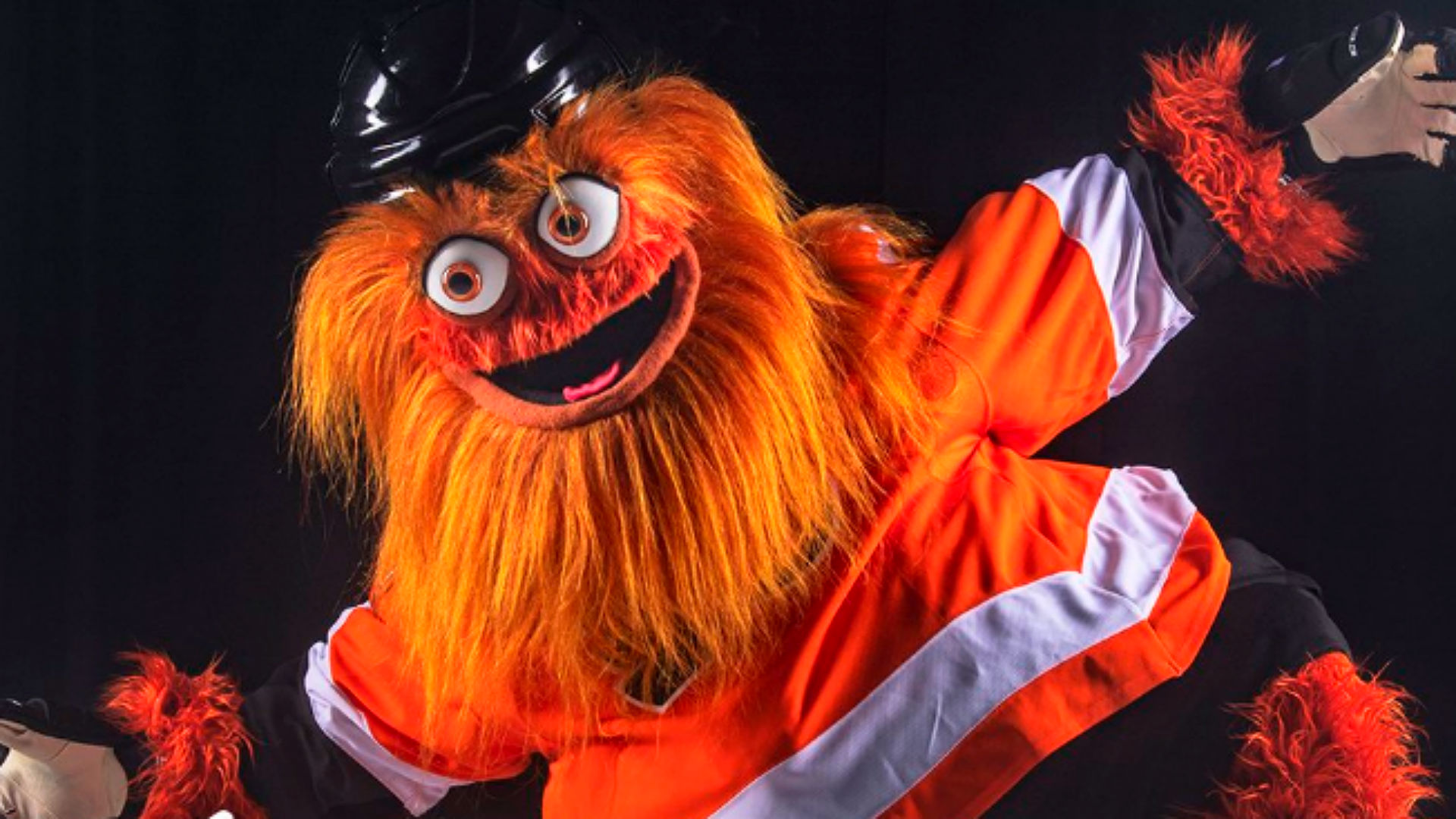 Flyers introduce terrifying orange mascot Gritty