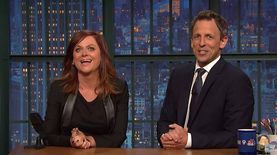 Amy Poehler Seth Meyers - 062515 - YouTube - FTR
