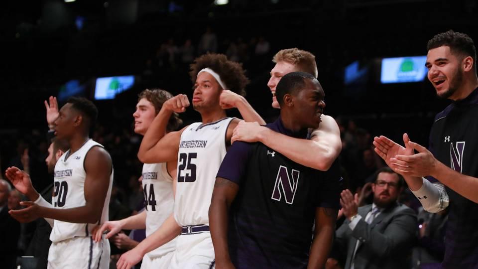 Northwestern bench celebration.jpg