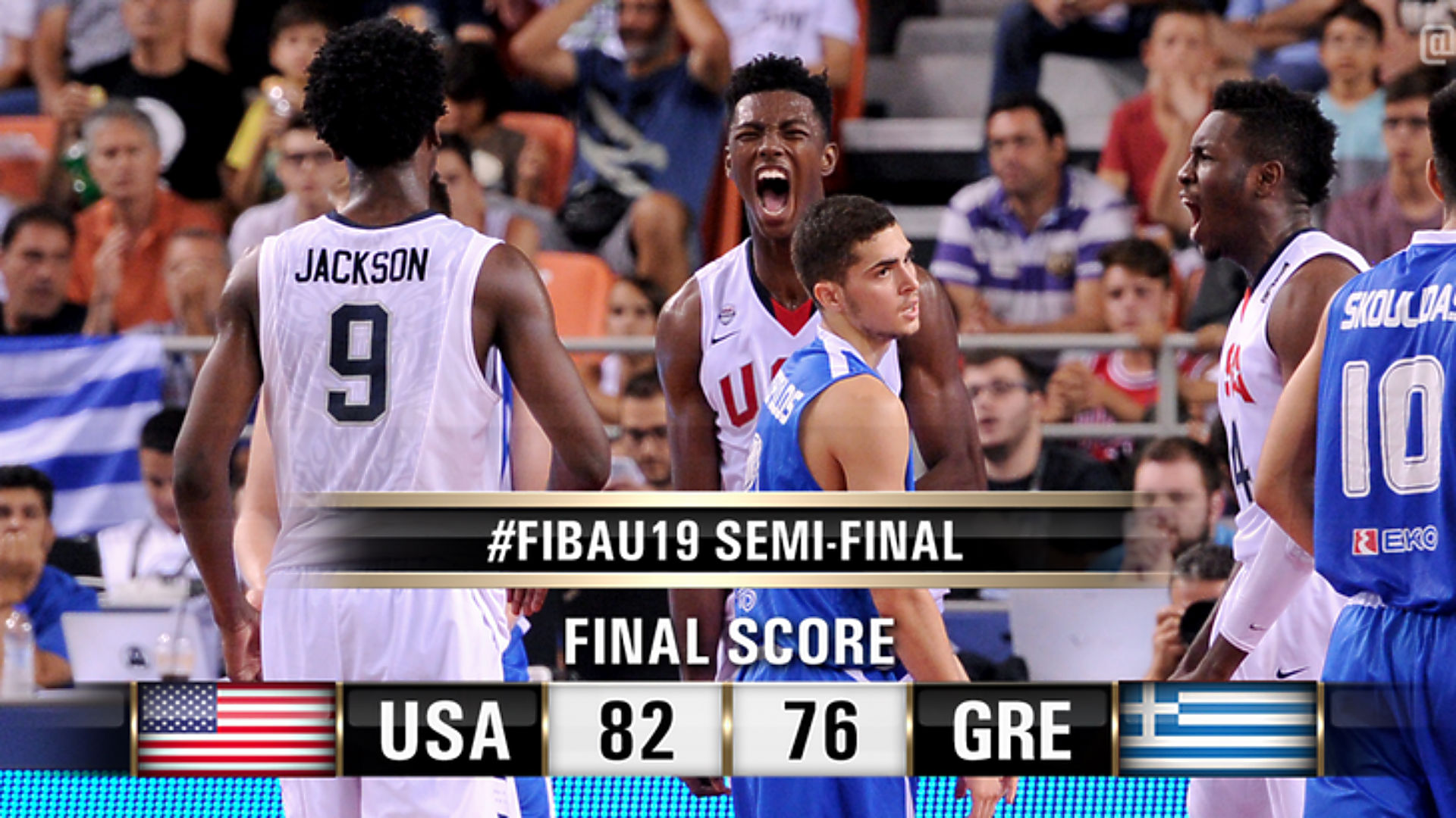 USA defeats Greece in FIBA U-19 semifinals