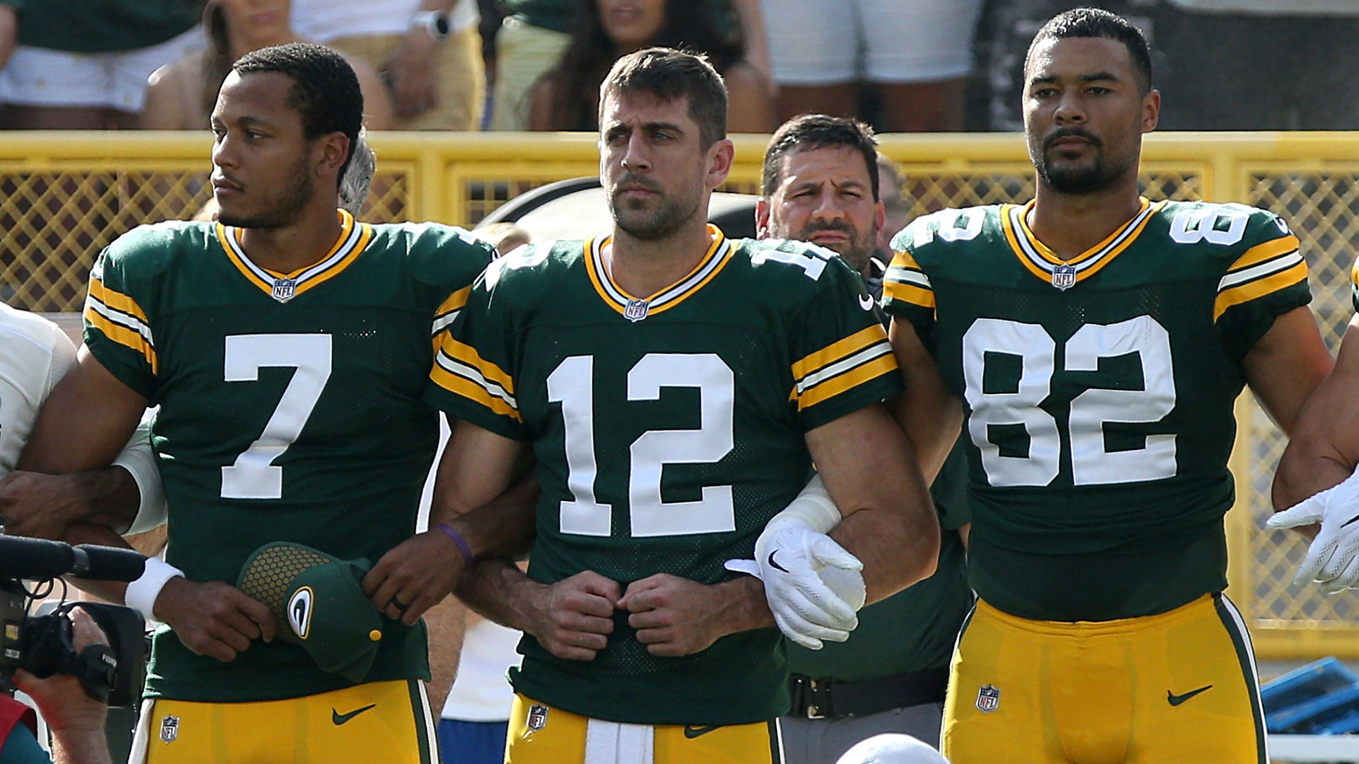 Aaron Rodgers: Protests during anthem about 'something bigger than ourselves'