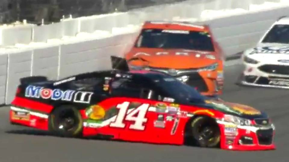 Brian Vickers crashes again in Tony Stewart\'s car; miserable ...