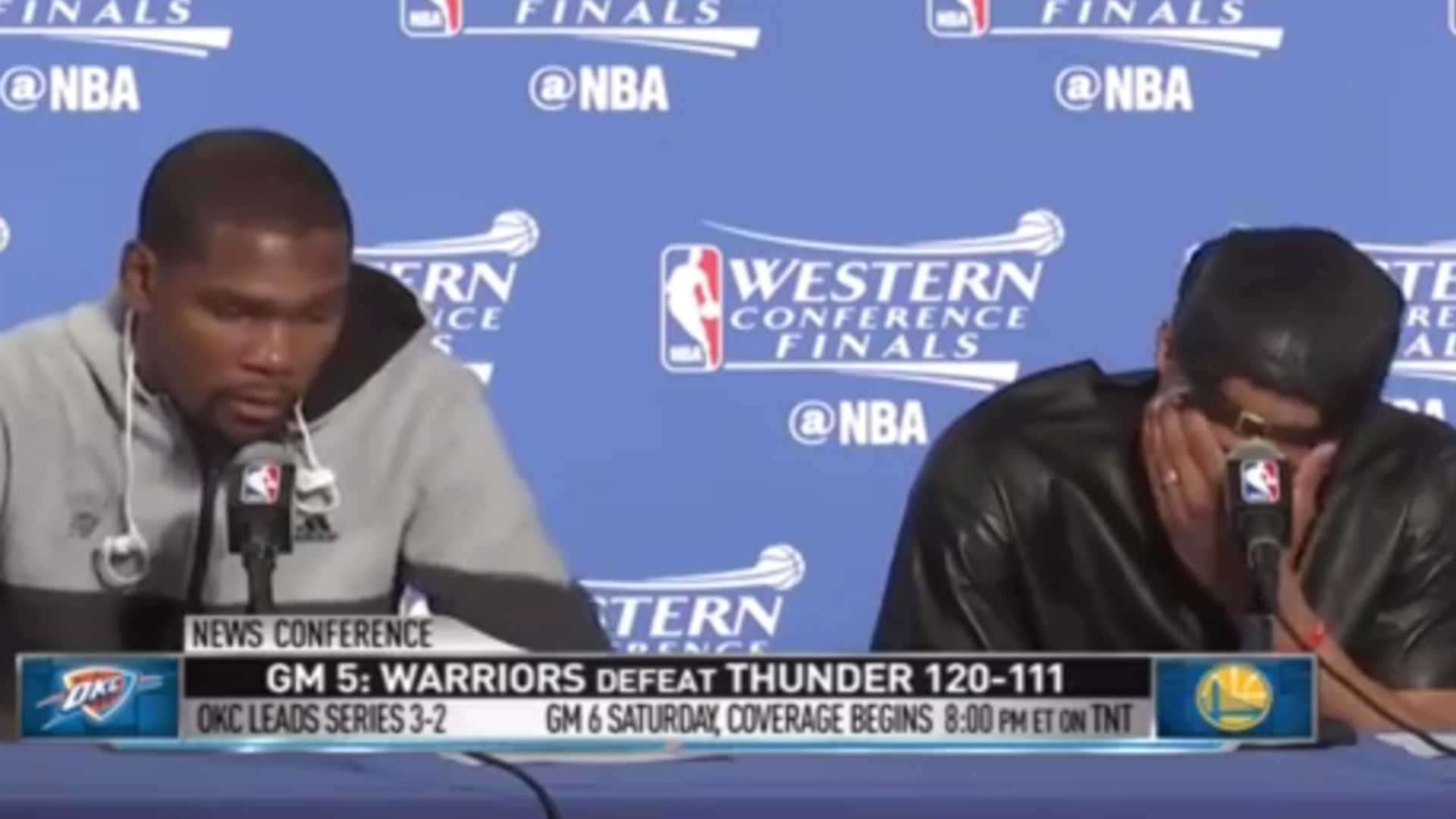 Russell Westbrook, Kevin Durant are unimpressed by Stephen Curry's defense
