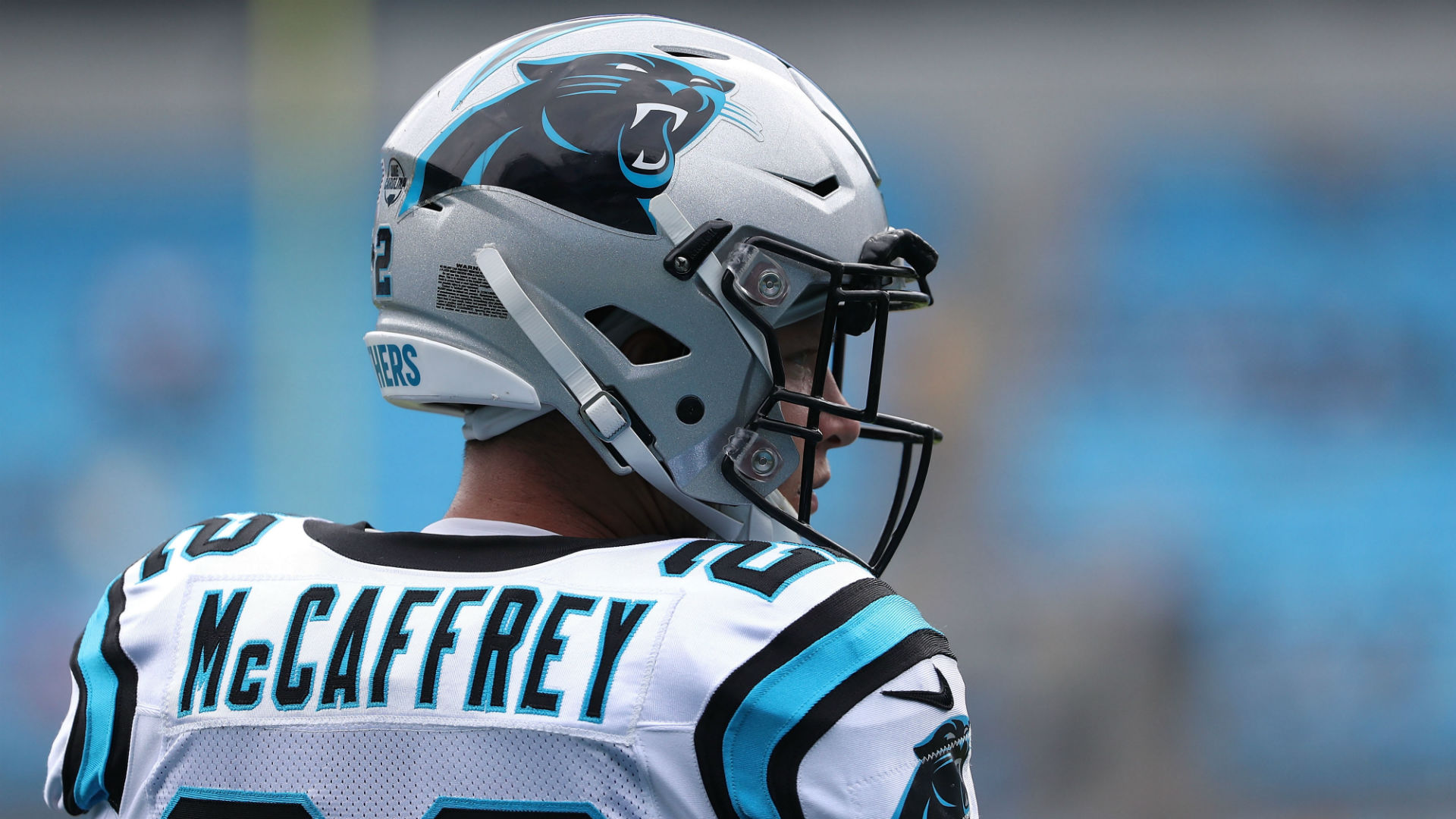 Panthers' Christian McCaffrey reunites with man he helped save