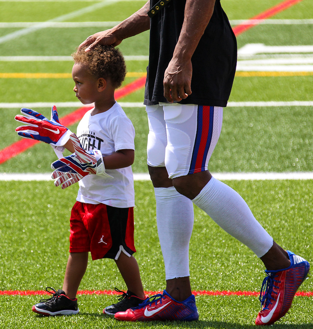 NFL player's children at training camp