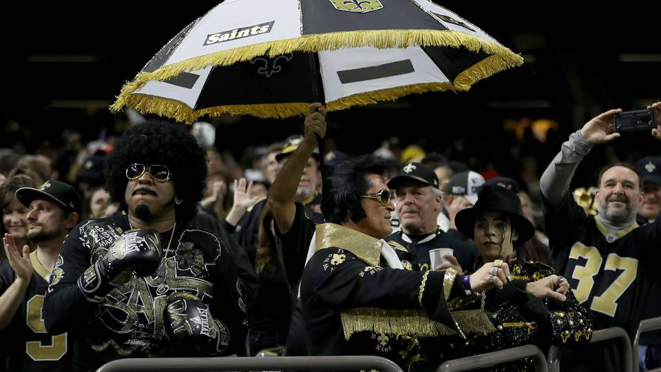 Saints fans line New Orleans streets before Super Bowl 53 in protest of  no-call in NFC title game bd8eb5658