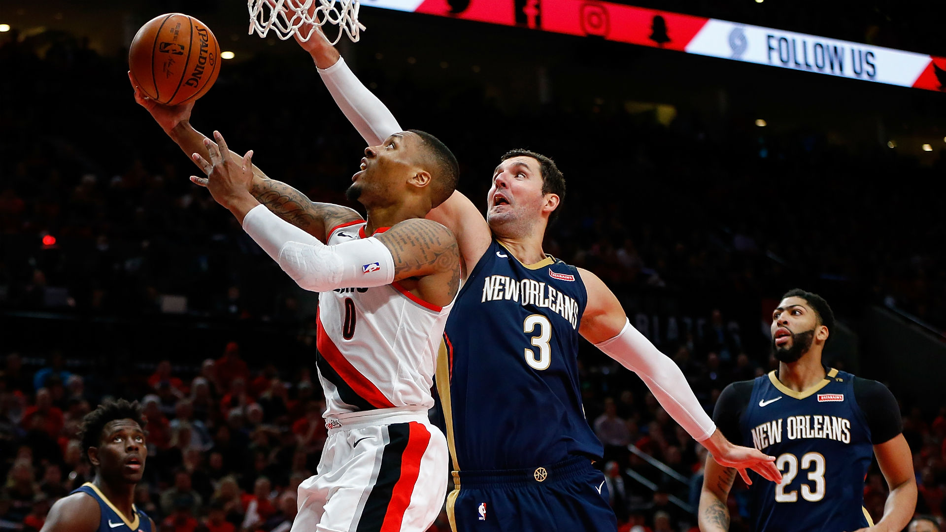 Holiday burns Blazers as Pelicans take 2-0 series lead